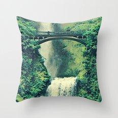 Multnomah Waterfall Throw Pillow