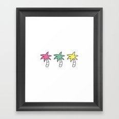 Palm tree three Framed Art Print
