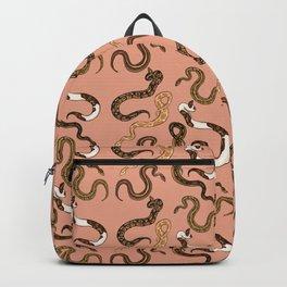Plenty of Pythons - Peach Backpack