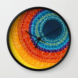 African American Masterpiece The Eclipse by Alma Thomas Wall Clock