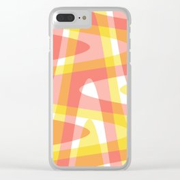 Pastel Waves 3 - Pink Clear iPhone Case