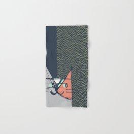 Cubist Cat Study #1 by Friztin Hand & Bath Towel