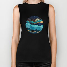 Indigo Desert Night Biker Tank