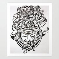 arab Art Prints featuring Arab love by Mighty Truth