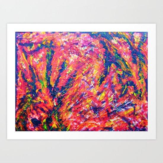 """""""Structure-Fire"""" Art Print"""