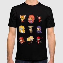 Chibi Heroines Set 3 T-shirt