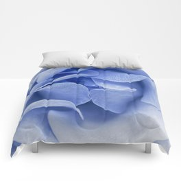 Blue flora Rose Bud- Roses and flowers Comforters