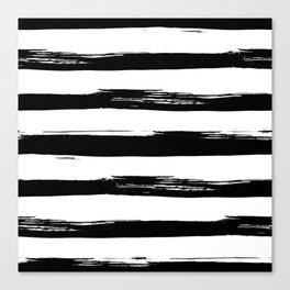 Stylish Black and White Stripes Canvas Print