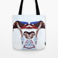 american Tote Bags featuring AMERICAN by Paparrazzi666