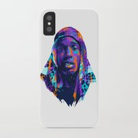 asap rocky iPhone & iPod Cases featuring NEXTGEN RAPPERS: ASAP ROCKY by mergedvisible