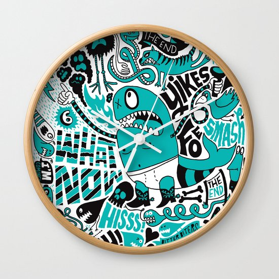 Foe! Wall Clock
