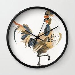A Cock by Johan Teyler (1648-1709) Wall Clock