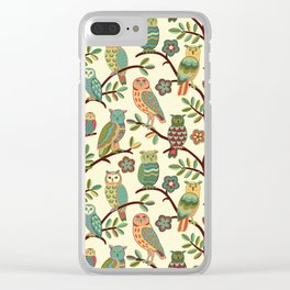 Owls Clear iPhone Case