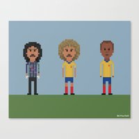 colombia Canvas Prints featuring Colombia by 8bit Football