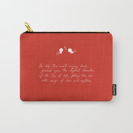 Be Like Two Sweet-Singing Birds [Red] Carry-All Pouch