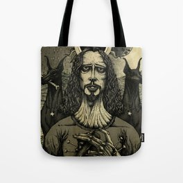 Louder than Love (Black & White) Tote Bag