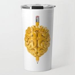 Pencil Brain Travel Mug