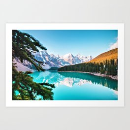 Lake Louise; Baniff, Canada Photographic Landscape Art Print