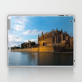 Day to night on Cathedral of Palma de Mallorca Laptop & iPad Skin