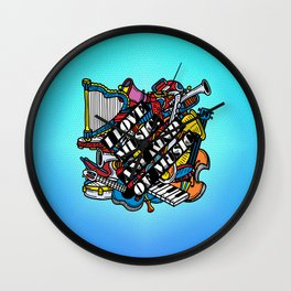I love music, any kind of music Wall Clock
