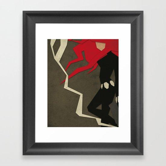 Paper Heroes - Black Widow Framed Art Print