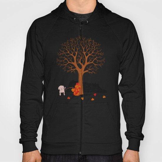 the fall and dog Hoody