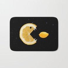 Funny Lemon Eats lemon Bath Mat