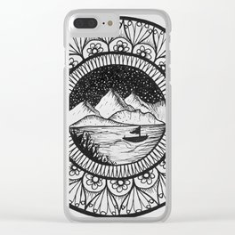 Mountainscape Clear iPhone Case