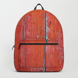 Red Rustic Fence rustic decor Backpack