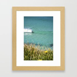 Bodyboarder Ocean Tamarama Framed Art Print