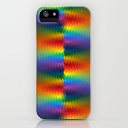 Rows of a Rainbow Fire iPhone Case