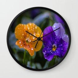 Water Droplets Wall Clock