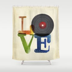 Love is Music Shower Curtain