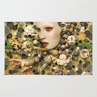 surrealism Area & Throw Rugs featuring pop surrealism, fine art by store2u