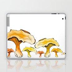 Chanterelle Mushroom, Hand drawn, Pen and Ink, Food, Nature Laptop & iPad Skin