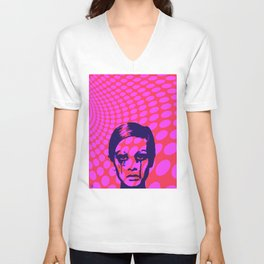 Iconic Twiggy Unisex V-Neck