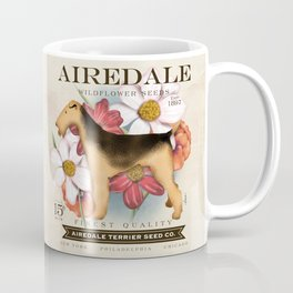 Airedale Terrier Seed Company artwork by Stephen Fowler Coffee Mug