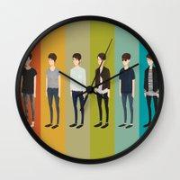 tegan and sara Wall Clocks featuring Tegan and Sara: Sara collection by Cas.