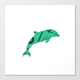 FADED DOLPHIN Canvas Print
