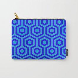 Hexagonal Blue Carry-All Pouch