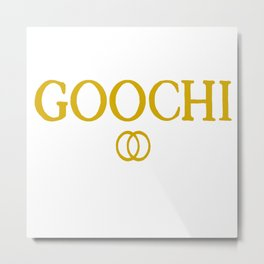 Goochi adam ellis gold Metal Print