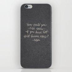 Nietzsche on Rising Anew iPhone & iPod Skin