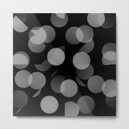 Black and Whit Dots Metal Print