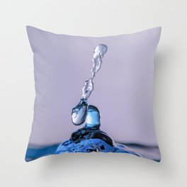 Blue water drops 0900 Throw Pillow