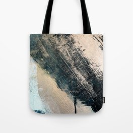 Honey 2: a pretty, minimal abstract mixed-media piece in blue, gold, and pink Tote Bag