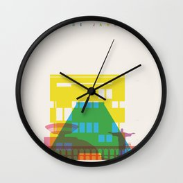 Shapes of Rio. Accurate to scale Wall Clock