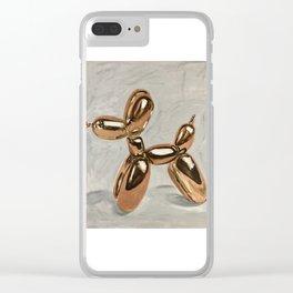 Golden Balloon Dog Clear iPhone Case