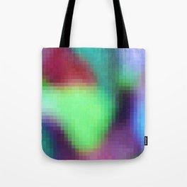 pixelated watercolor IX after dark Tote Bag