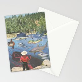 Big River Blues Stationery Cards