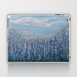 Flower Field Landscape, Blue Home Decor, True Blue Laptop & iPad Skin